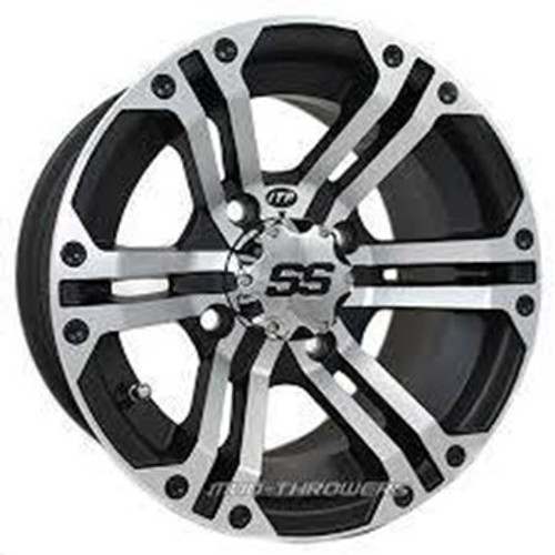 FREE SHIPPING **SET OF 4** Strong, light and distinctively different. Heavy duty 14-inch side-by-side UTV applications rated at 800 lbs! Matching SS wheel cap is included.
