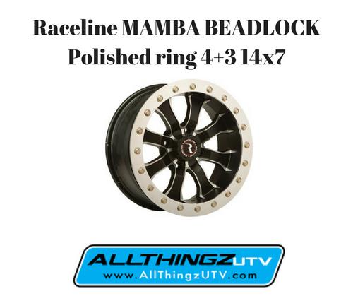 MAMBA BEADLOCK Polished ring 4+3 14x7