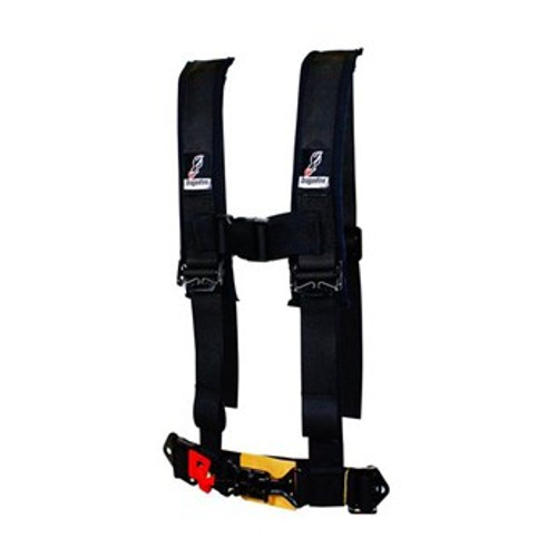 """DragonFire knows that safety & comfort are crucial elements for anyone living the UTV Lifestyle. DragonFire harness restraints are designed to utilize stock or modified seat configurations*. With years of experience and the ability to cater to every UTV rider's need, DragonFire harnesses will not let you down… even in the roughest conditions! ** Note: All Can-Am Commander/Maverick models and 2015+ Polaris UTV models require a Harness OverRide Sensor Plug for installation of 4 or 5 point harnesses.  YOUTH 2"""" H-style harness restraint Rated up to 120 lbs Extended sewn-in shoulder pads Memory foam for added comfort Integrated sternum clip to keep shoulder straps in place Easy in & out with sewn in lap/shoulder belts Blacked out hardware 4-Point Harness (5th point sub-belt sold separately) Sold Each Recommended for recreational use Also available DragonFire's 5-Point SFI, 3 Inch and Youth Harnesses Mounting hardware not included"""