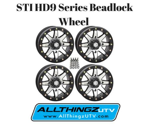 STI HD9 Series Beadlock Wheel 14X7 4/156 (5+2) offset (Machined) SET OF 4