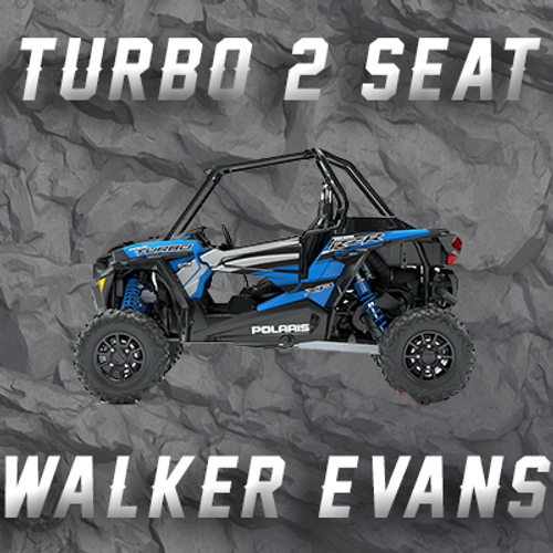 RZR TURBO 2 SEATER W/ WALKER EVANS TENDER SPRINGS
