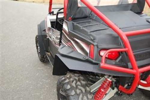 Trail Armor RZRS and RZR4 Mud Flap Fender Extensions for RZRS style Fender Flares REAR ONLY