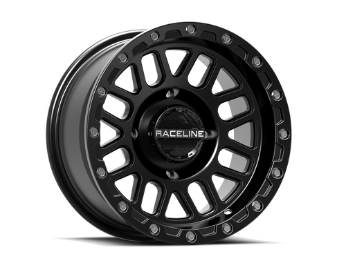 SET OF 4 RACELINE PODIUM BEADLOCKS 4/156 14X7 5+2 BLACK