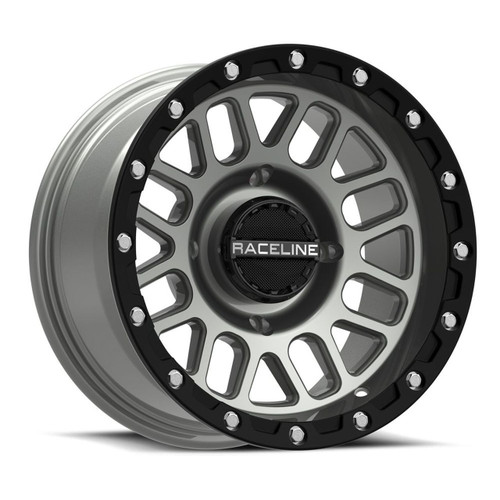(4) RACELINE PODIUM BEADLOCKS STEALTH GREY