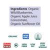 Dried Wild Blueberries, Organic - 4 oz