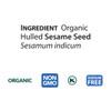 Sesame Tahini, Roasted, Organic