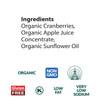 Dried Cranberries Pocket Snacks, Organic - 12 pack