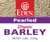 Pearled Barley, Organic - 5 lb