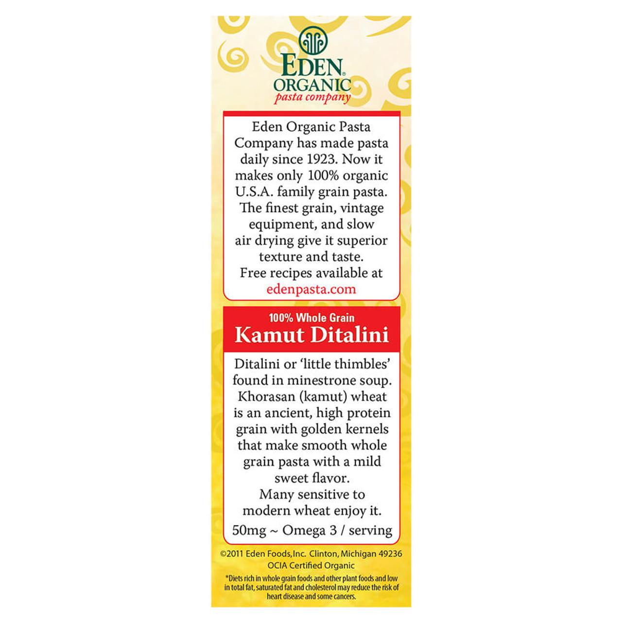 Kamut® Ditalini, Organic, 100% Whole Grain