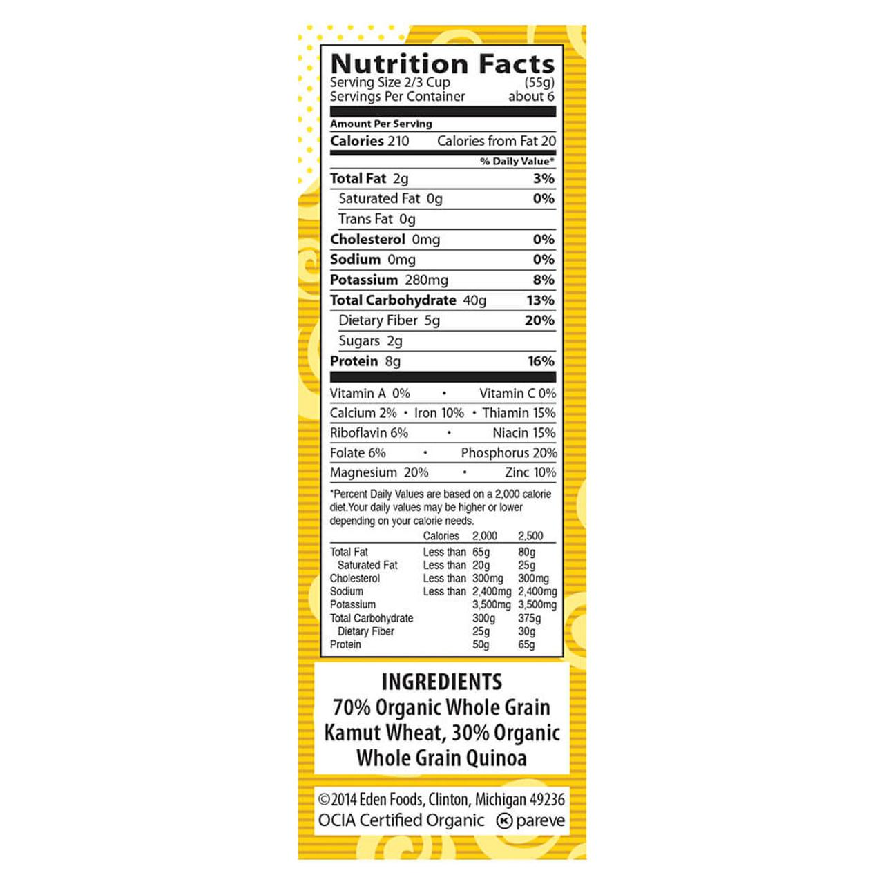 Kamut® & Quinoa Twisted Pair®, Organic, 100% Whole Grain
