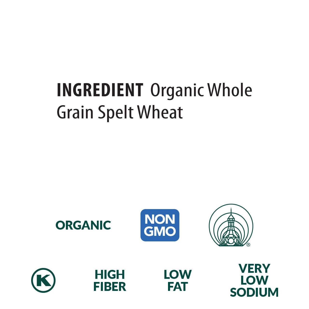 Spelt Ribbons, Organic, 100% Whole Grain