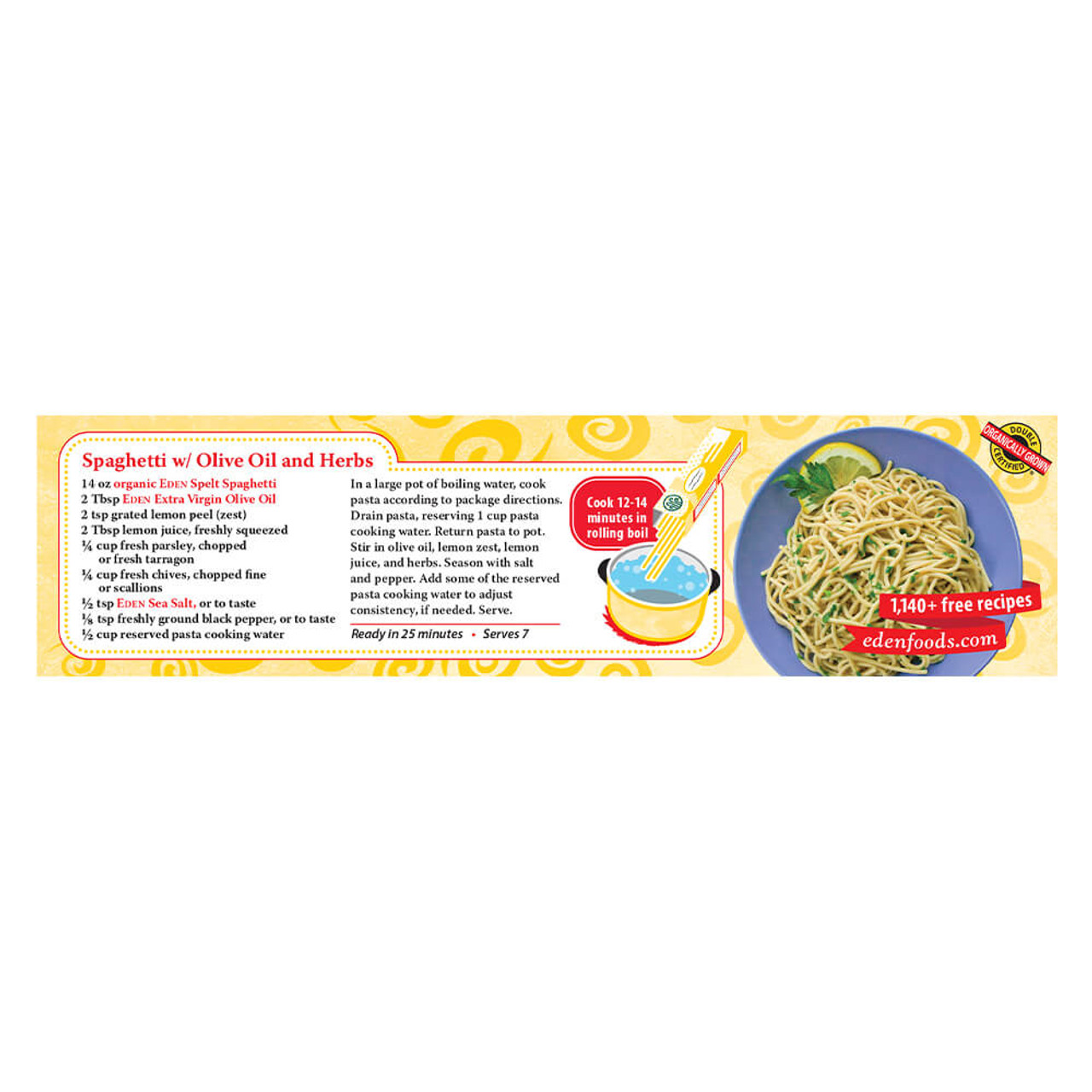 Spelt Spaghetti, Organic, 100% Whole Grain
