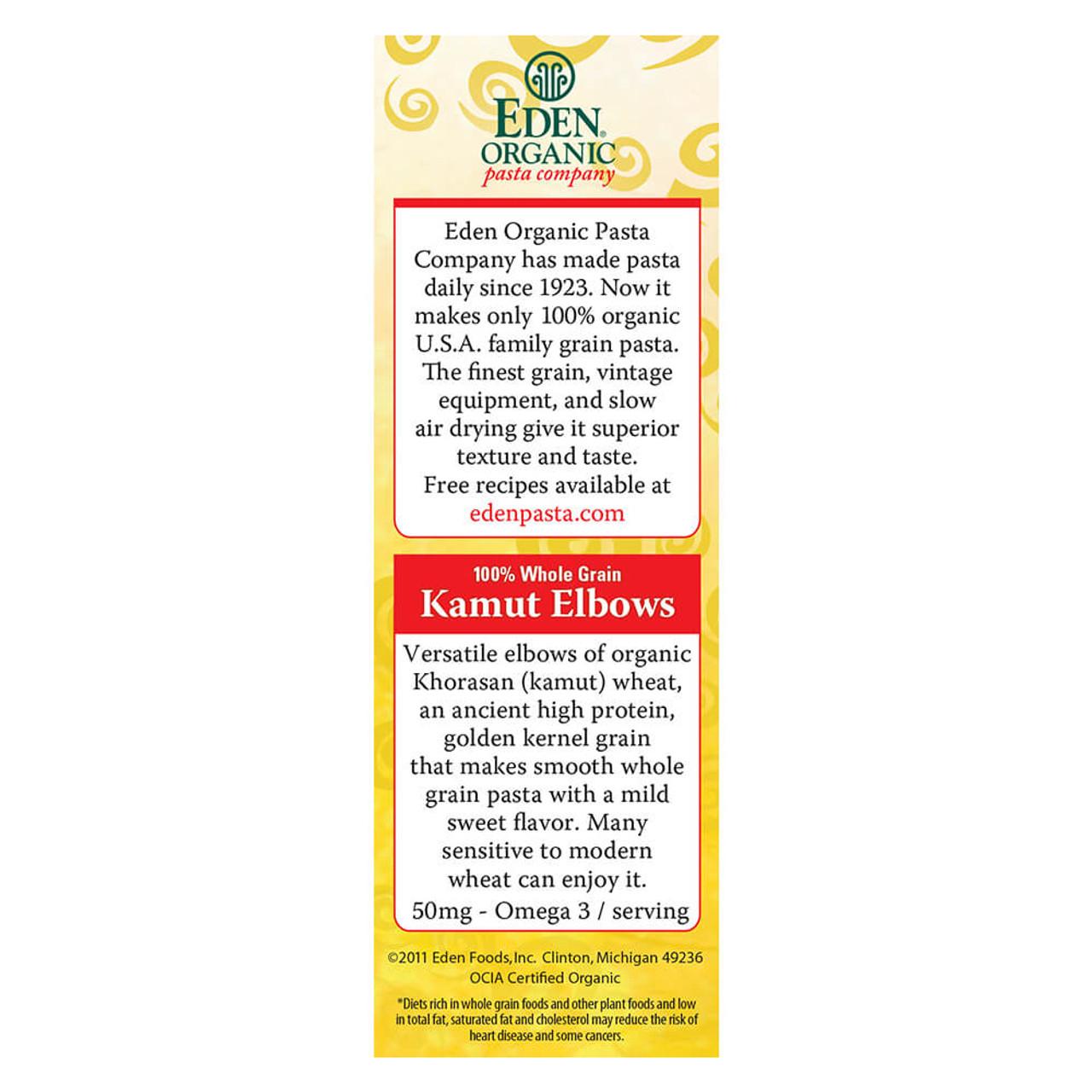 Kamut® Elbows, Organic, 100% Whole Grain