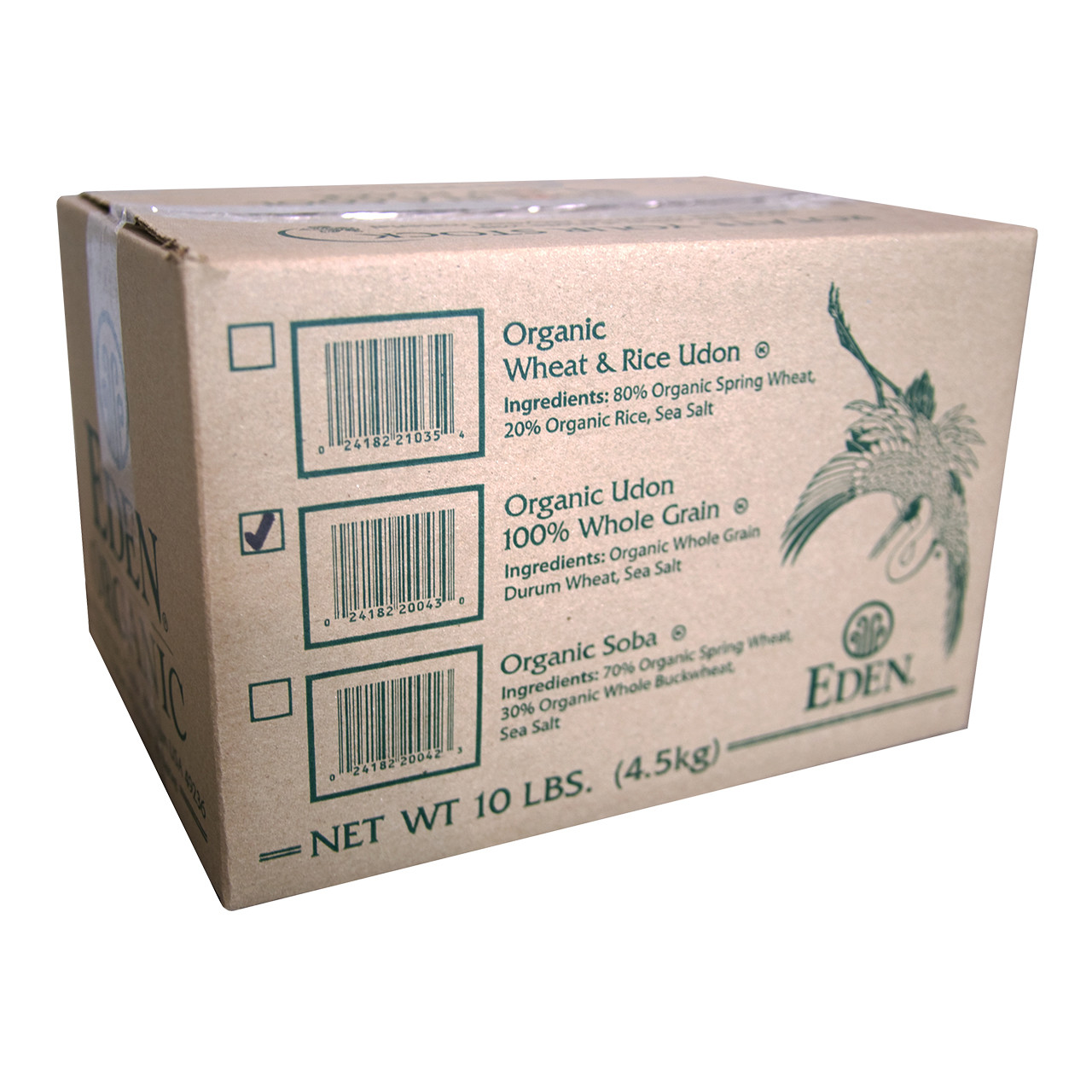 Udon, Organic, 100% Whole Grain - 10 lb