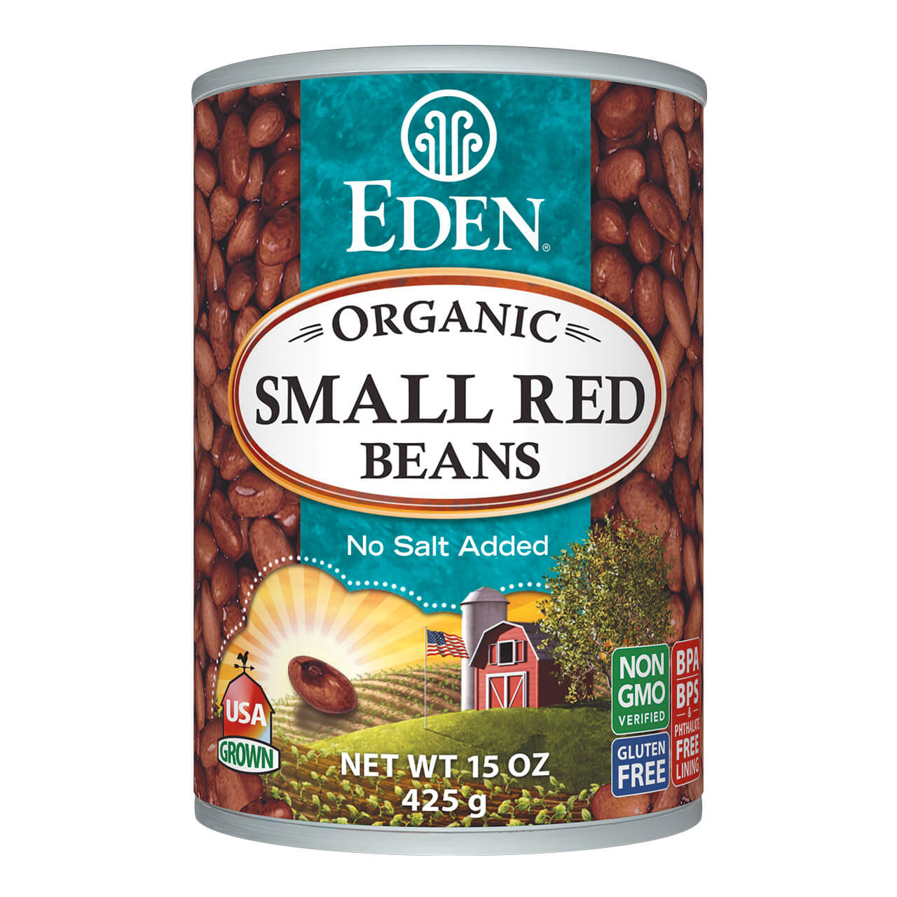 Small Red Beans, organic, 15 oz