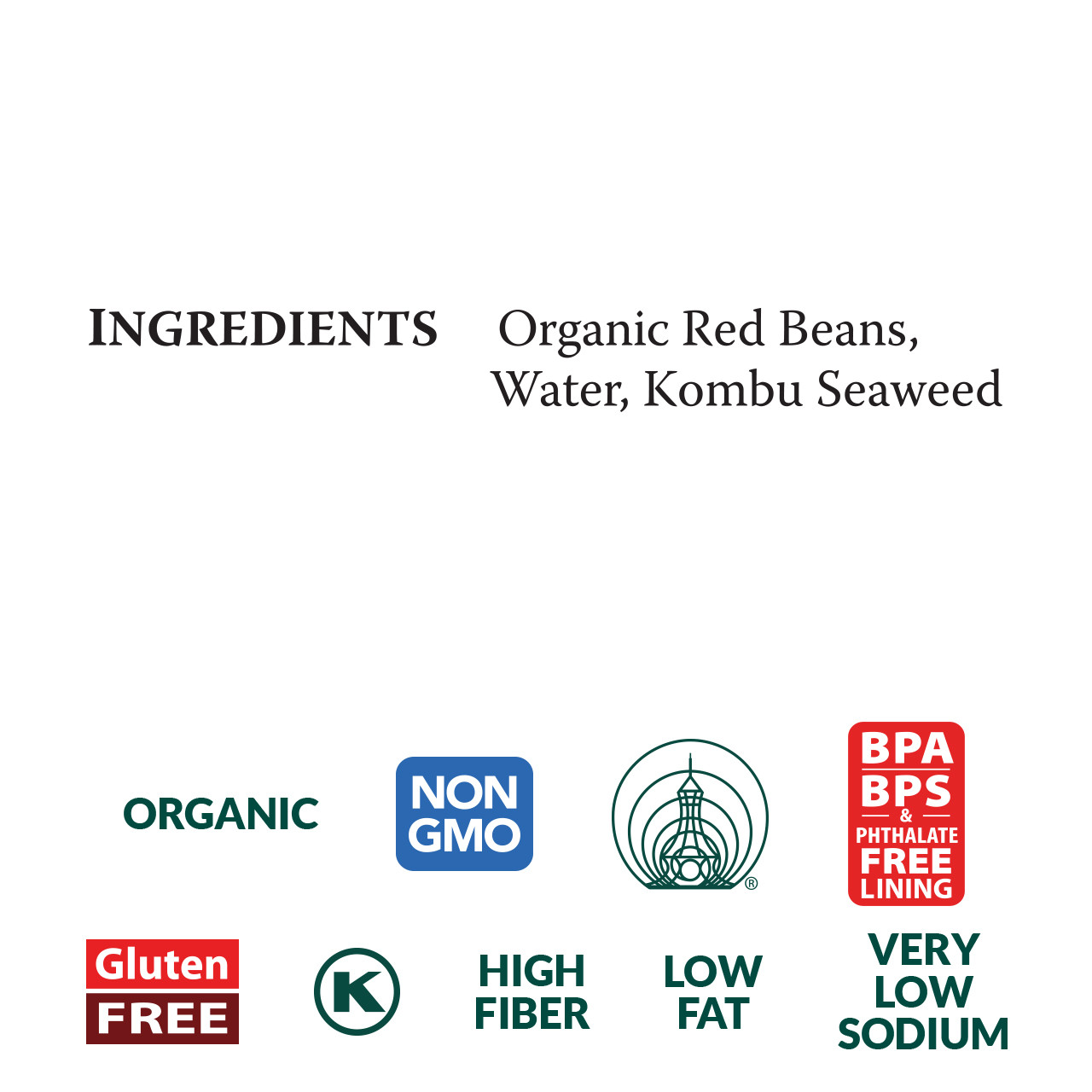 Small Red Beans, organic, 29 oz