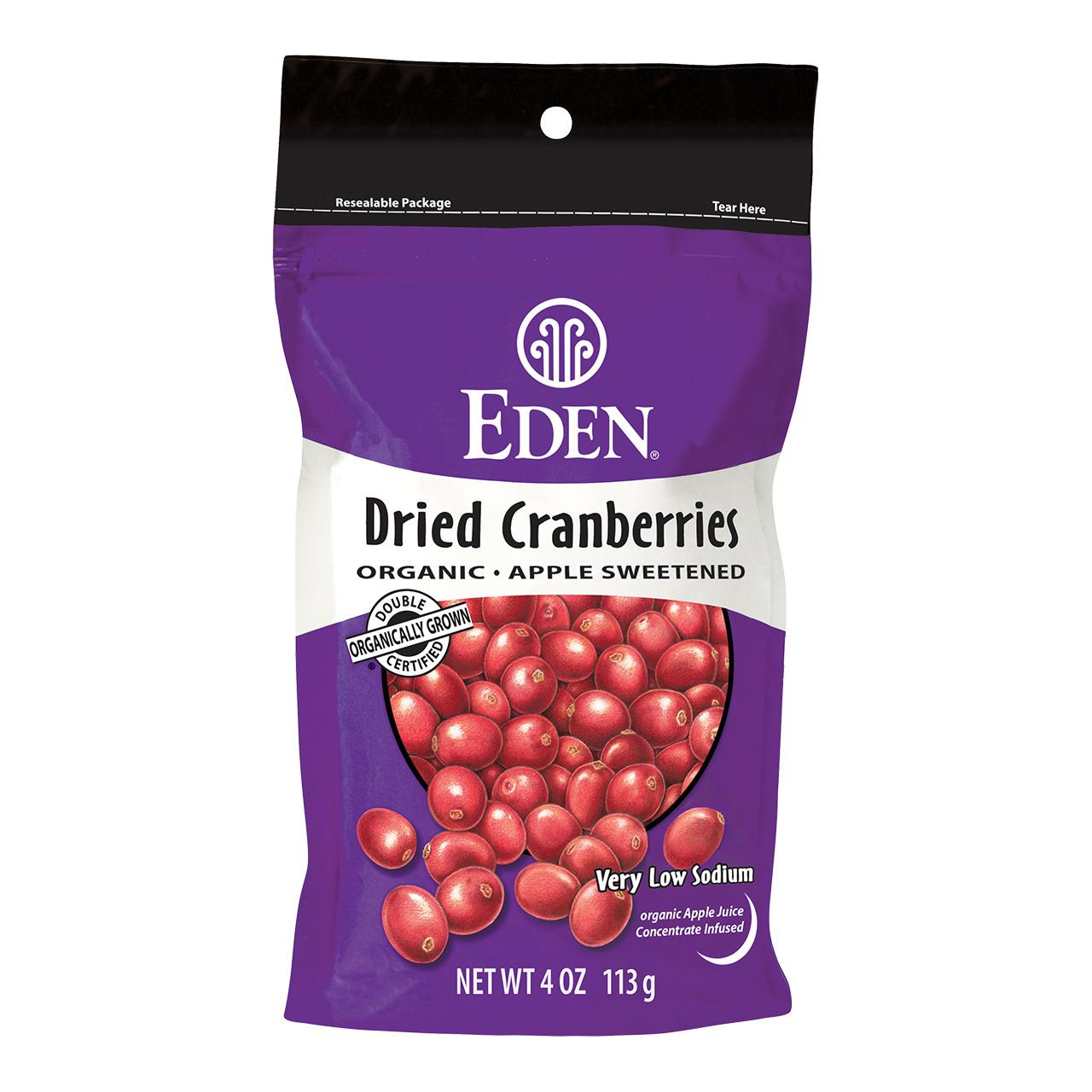 Dried Cranberries, Organic - 4 oz