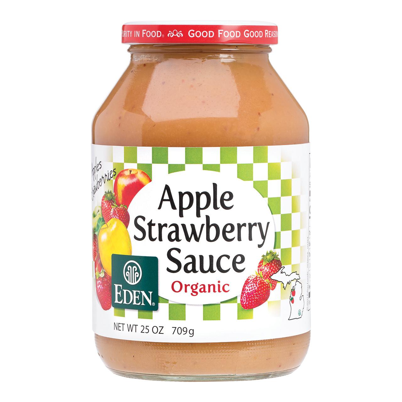 Strawberry Apple Sauce, Organic