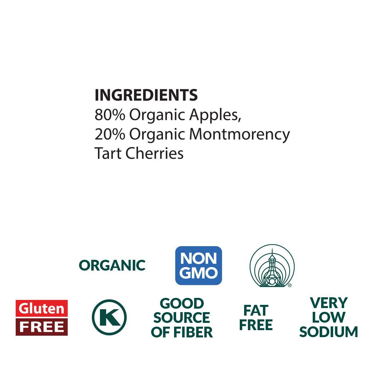 Cherry Apple Sauce, Organic