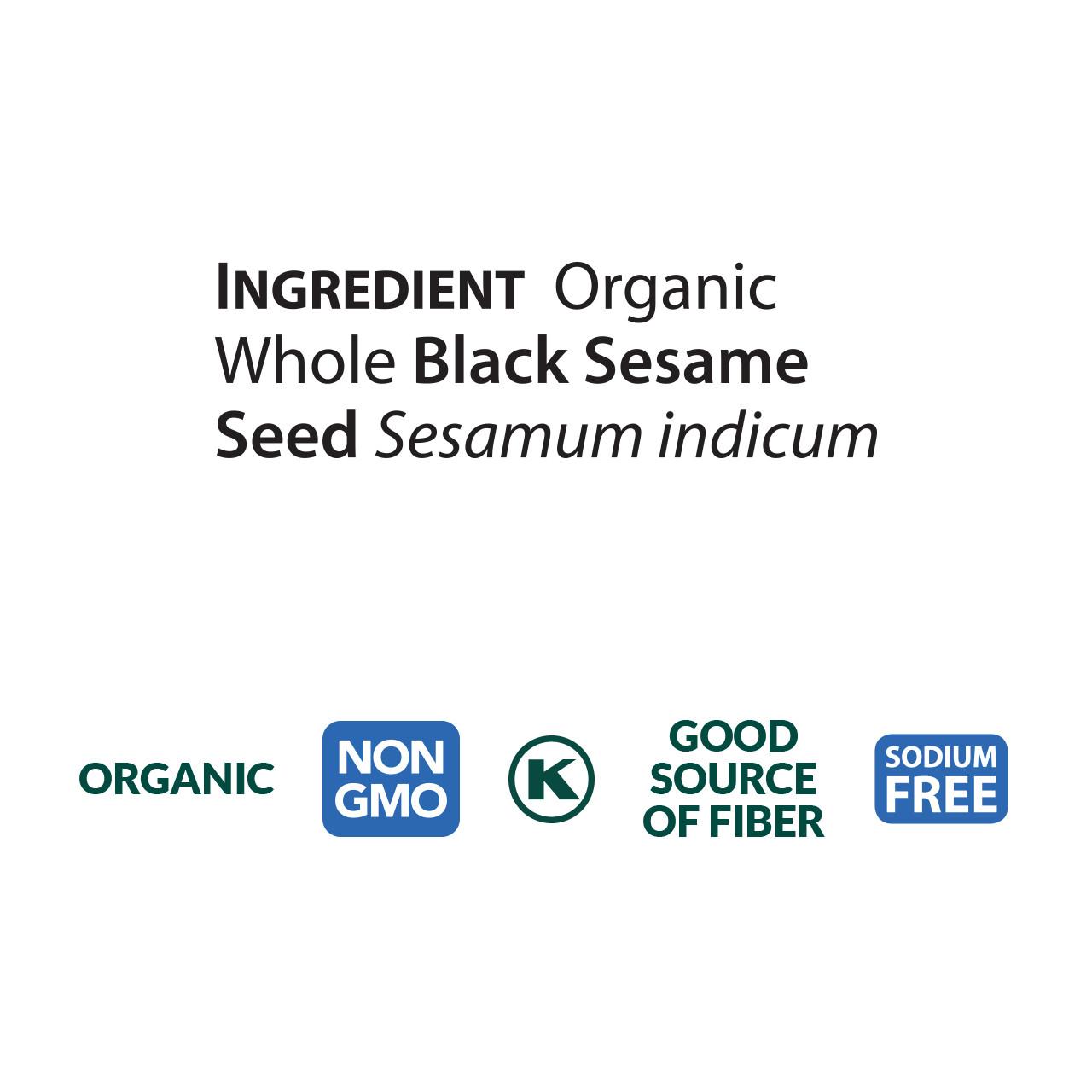 Black Sesame Butter - organic, roasted