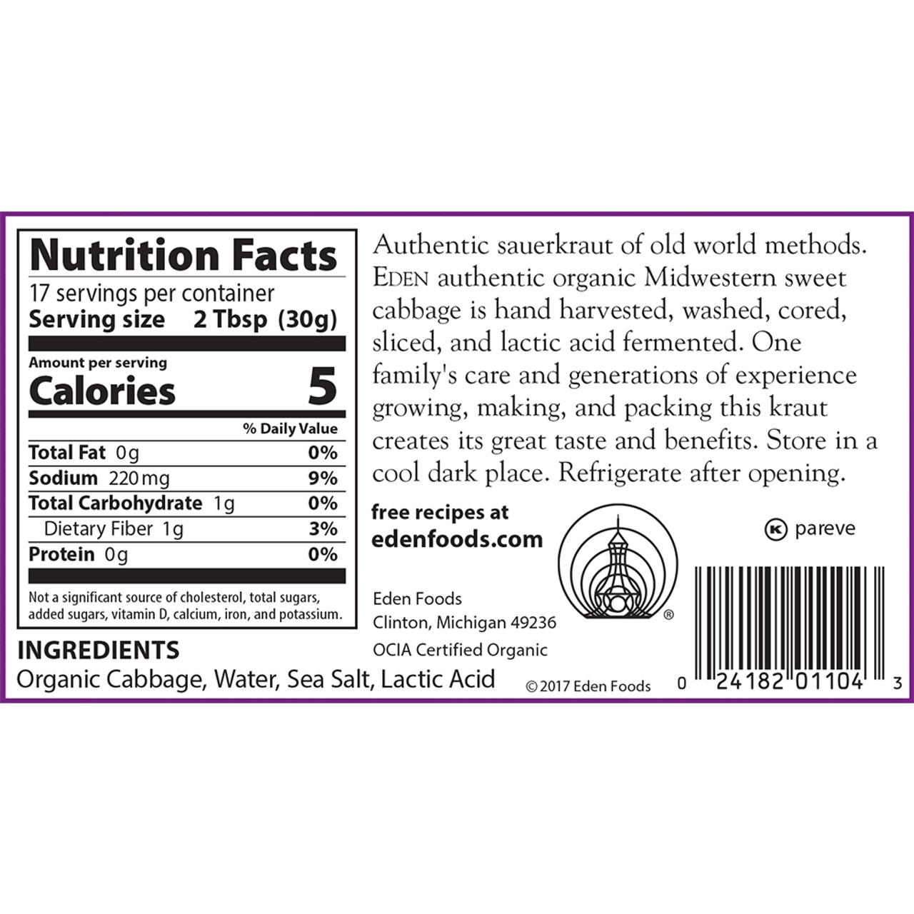 Sauerkraut, Organic - 18 oz