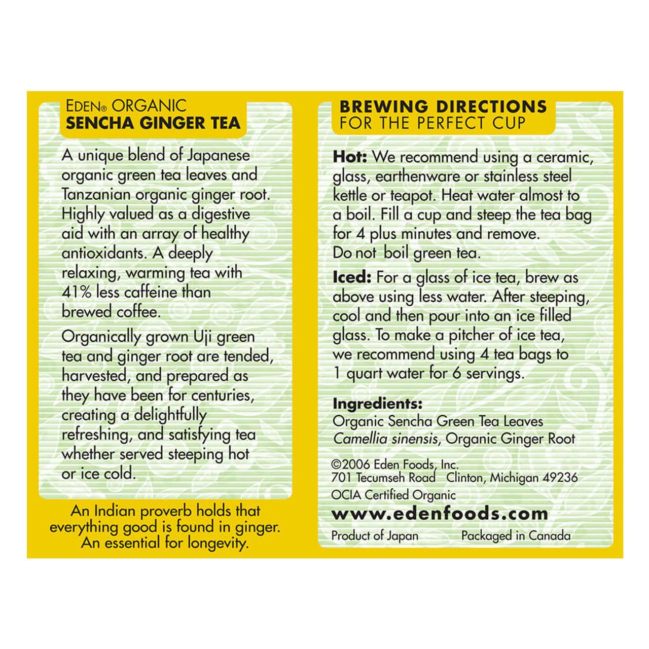 Sencha Ginger Green Tea, Organic