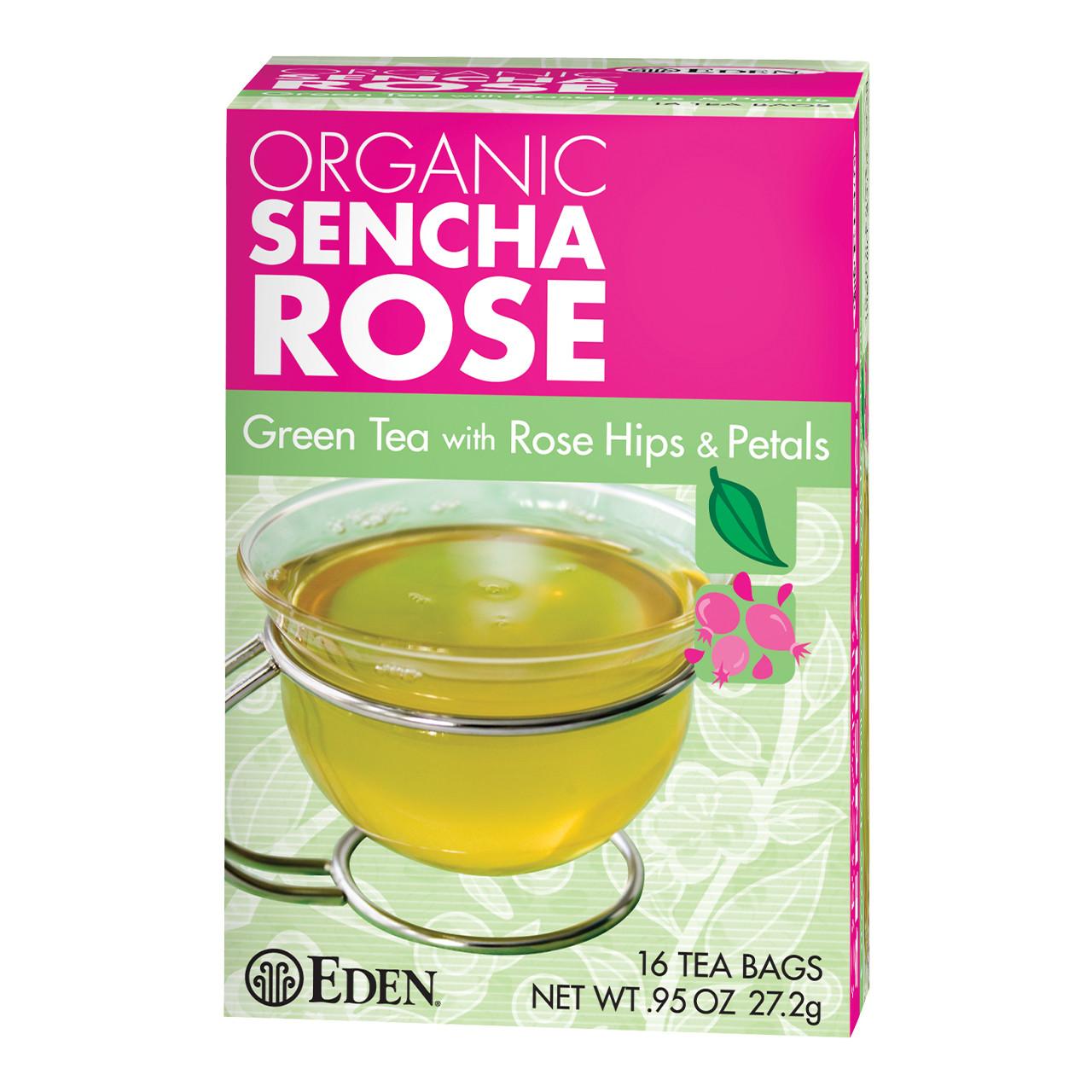 Sencha Rose Green Tea, Organic