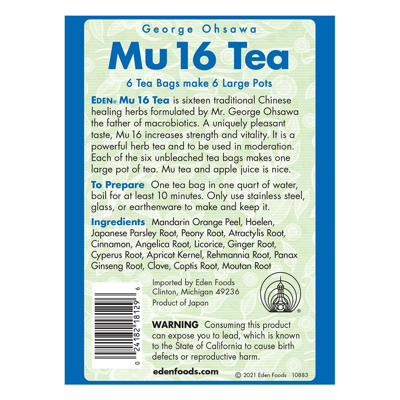 Mu 16 Herb Tea