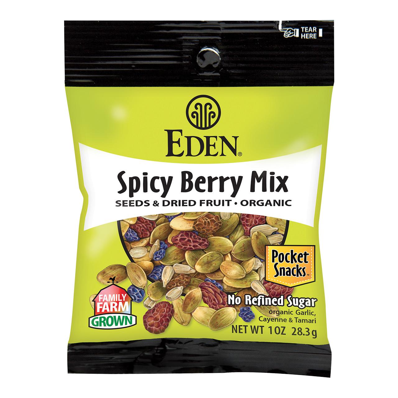 Spicy Berry Mix, Organic Pocket Snacks - 1 oz