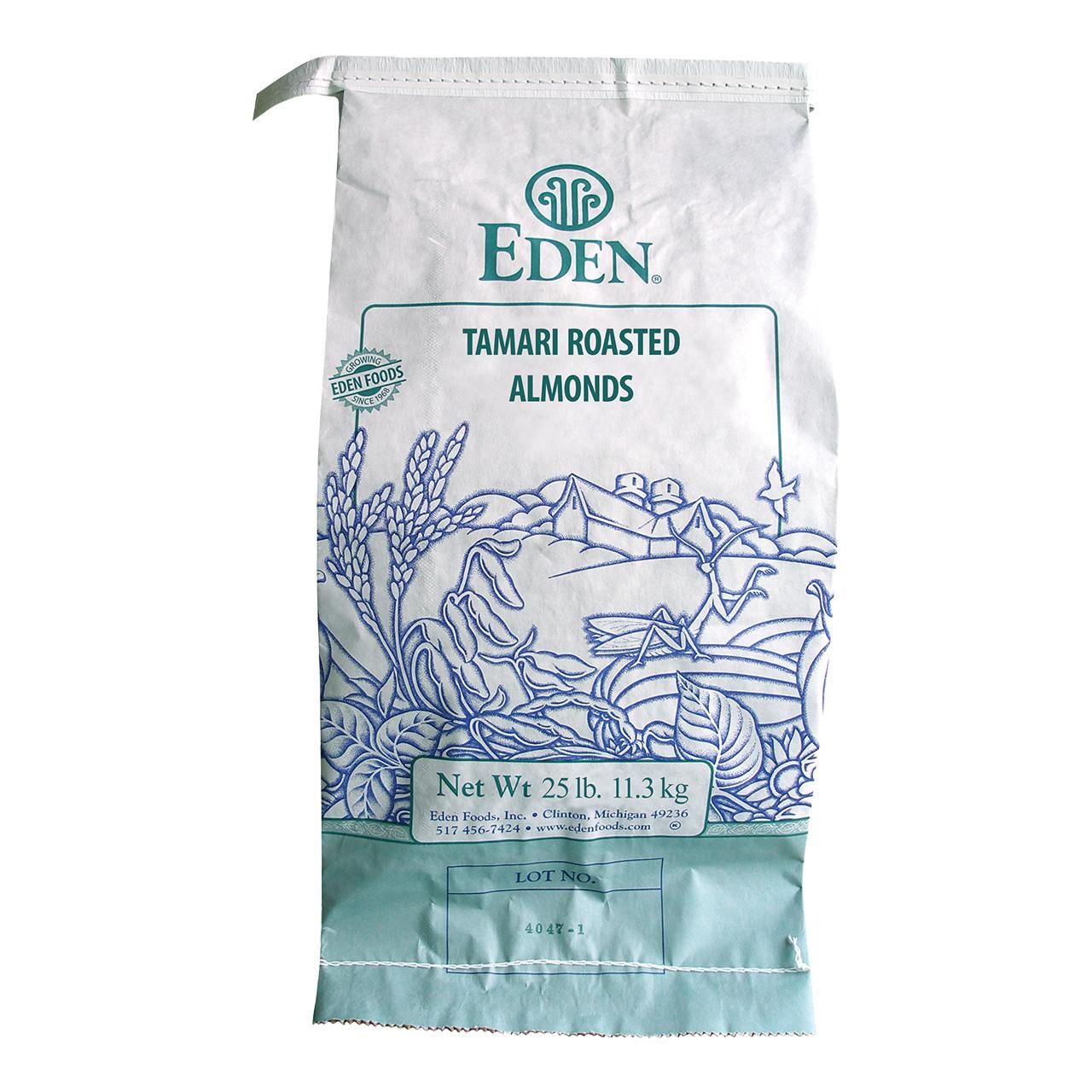 Tamari Roasted Almonds, Organic - 25 lb