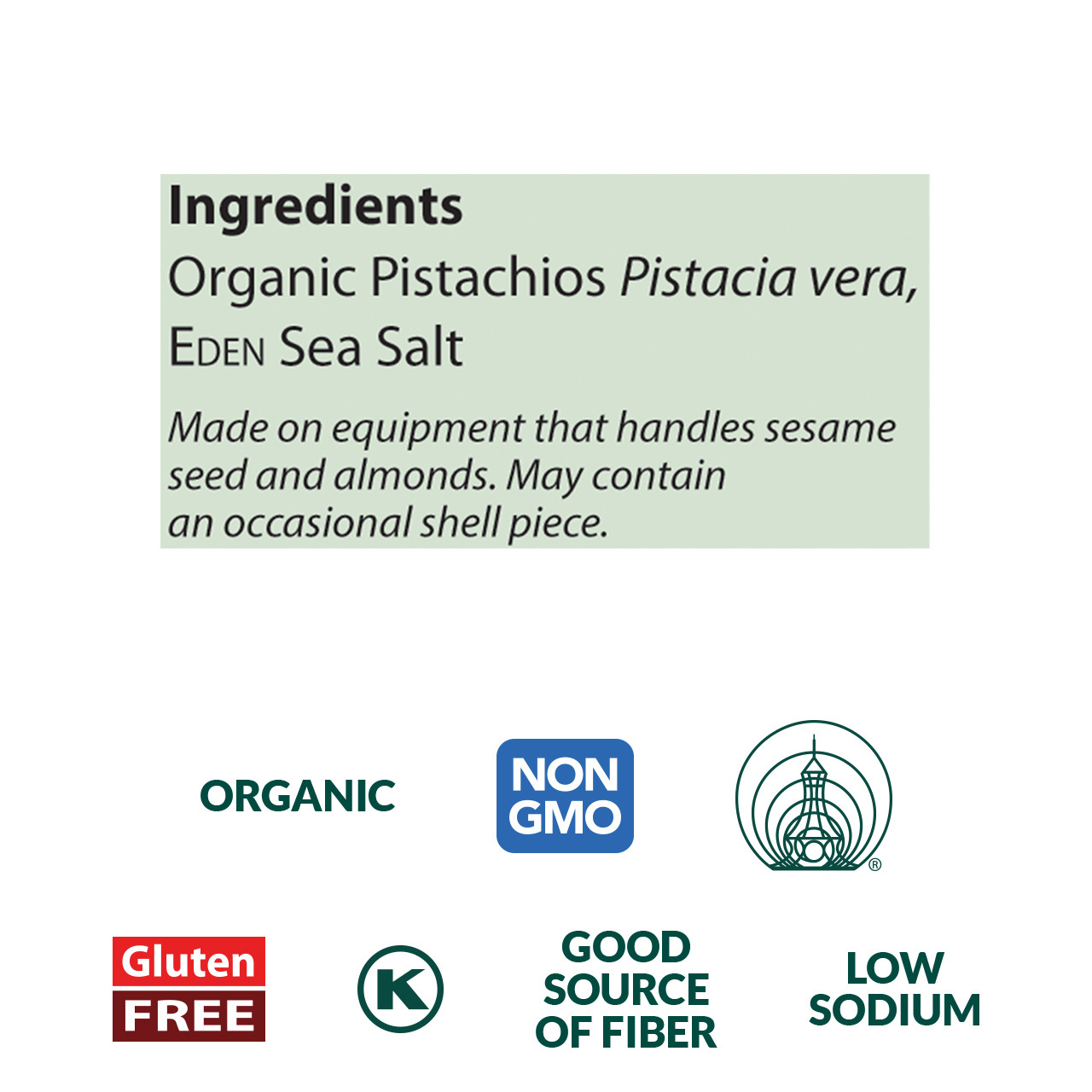 Pistachios, Organic - 4 oz