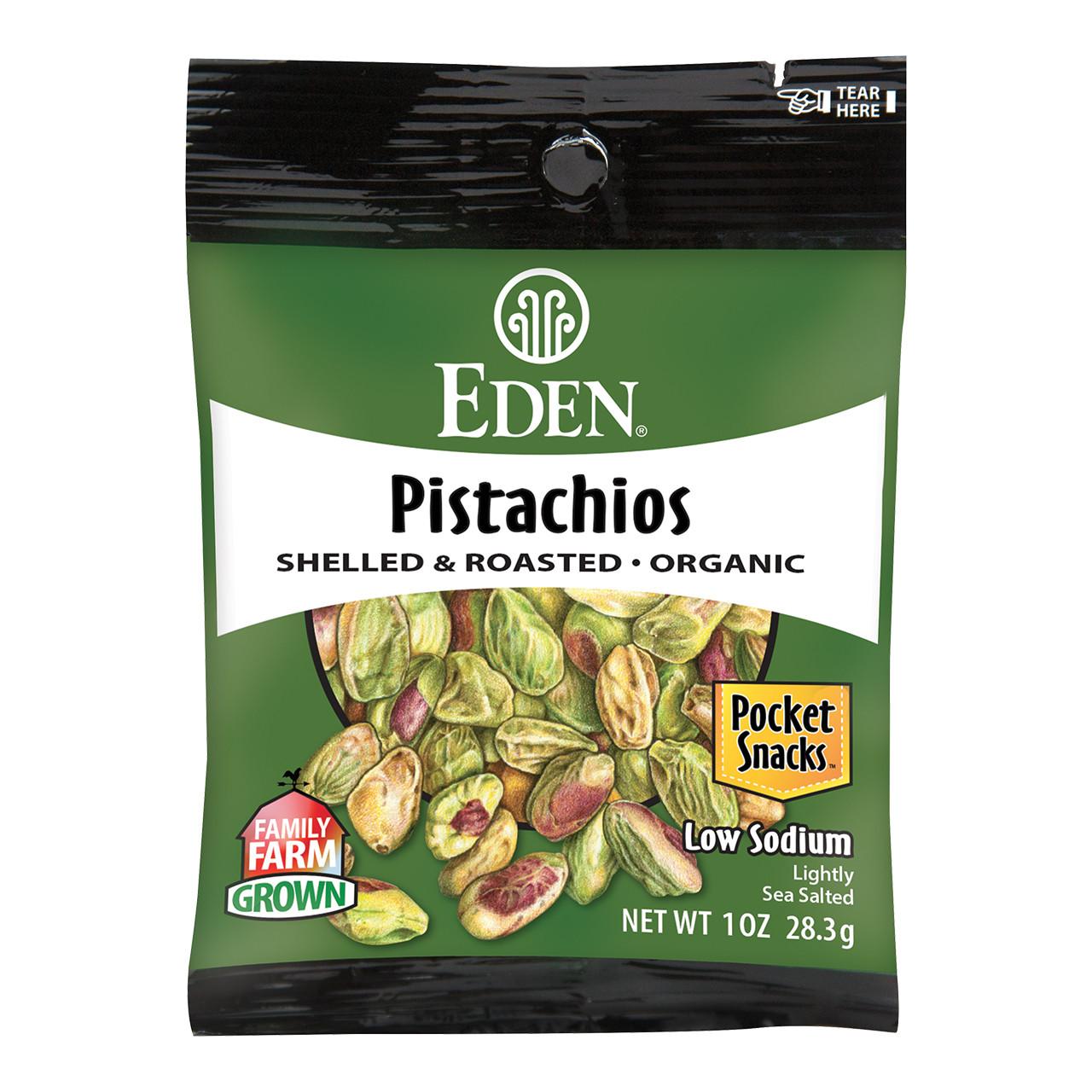Pistachios Pocket Snacks, Organic - 1 oz