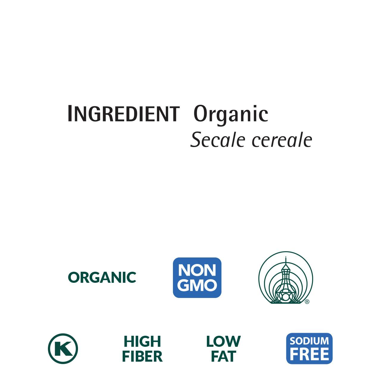 Rye Flakes, Organic