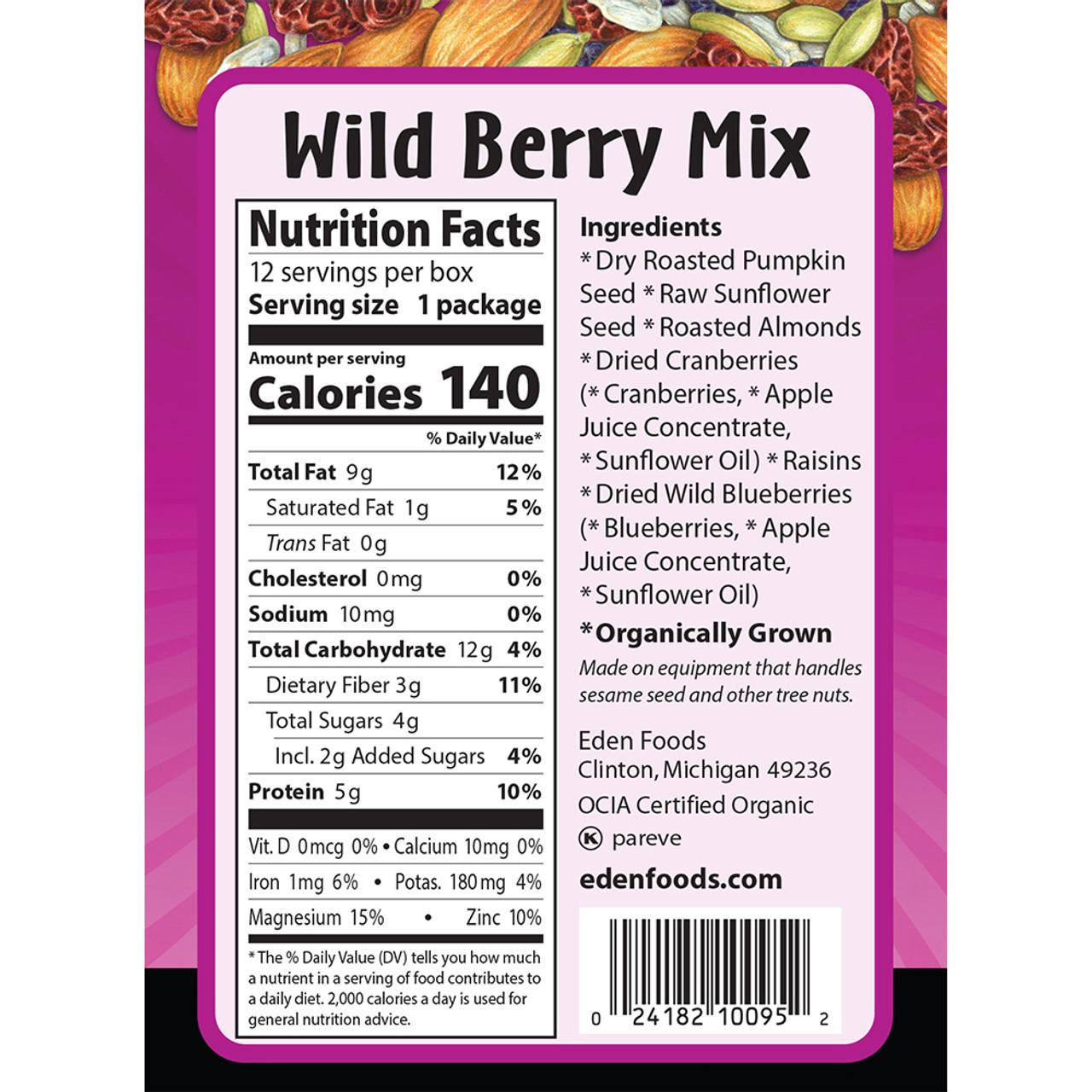 Wild Berry Mix Pocket Snacks, Organic - 12 pack