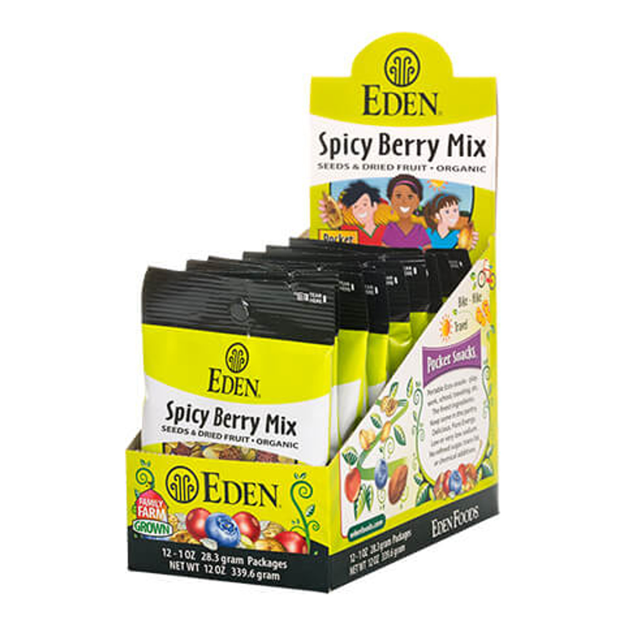 Spicy Berry Mix, Organic Pocket Snacks - 12 pack