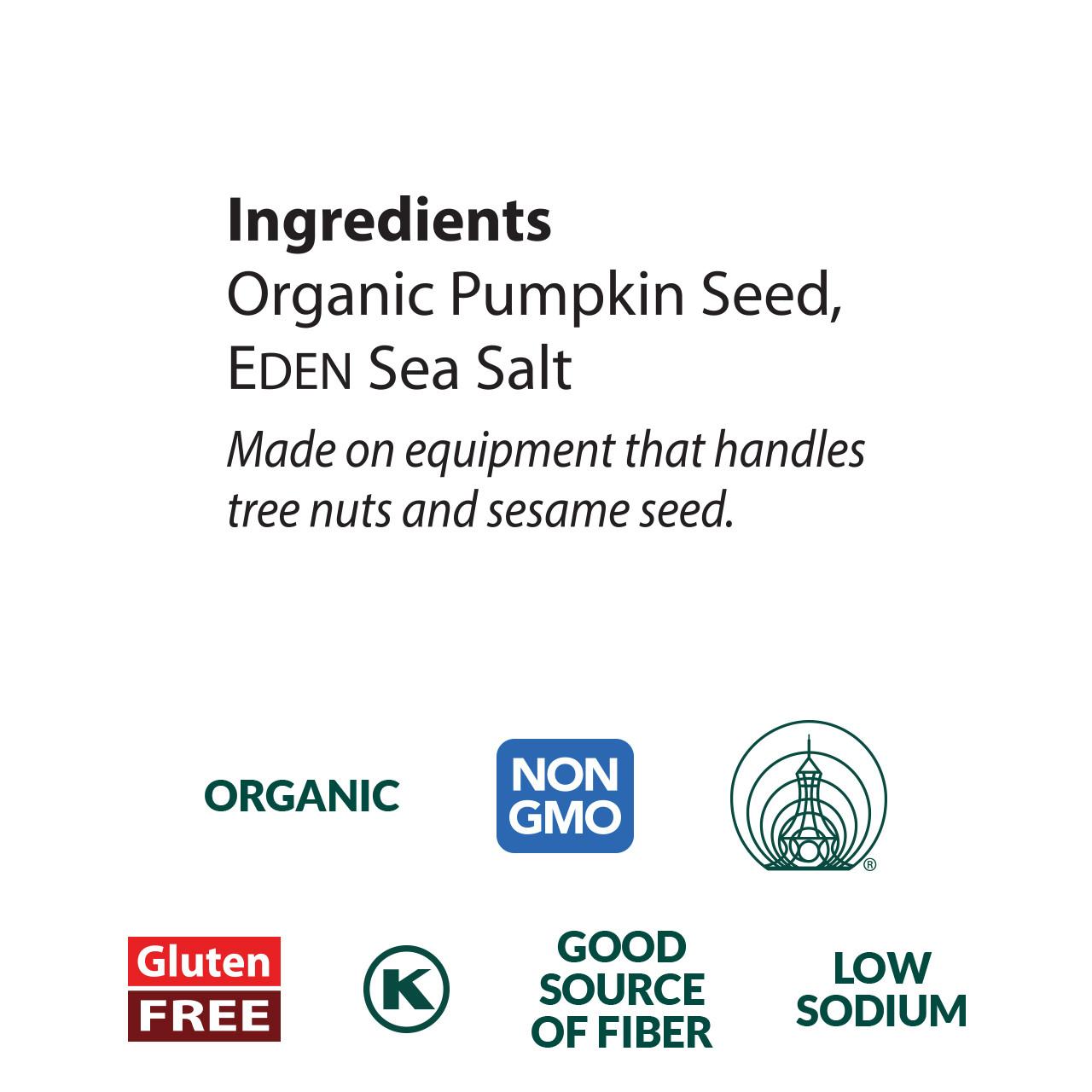 Pumpkin Seeds Pocket Snacks, Organic - 12 pack
