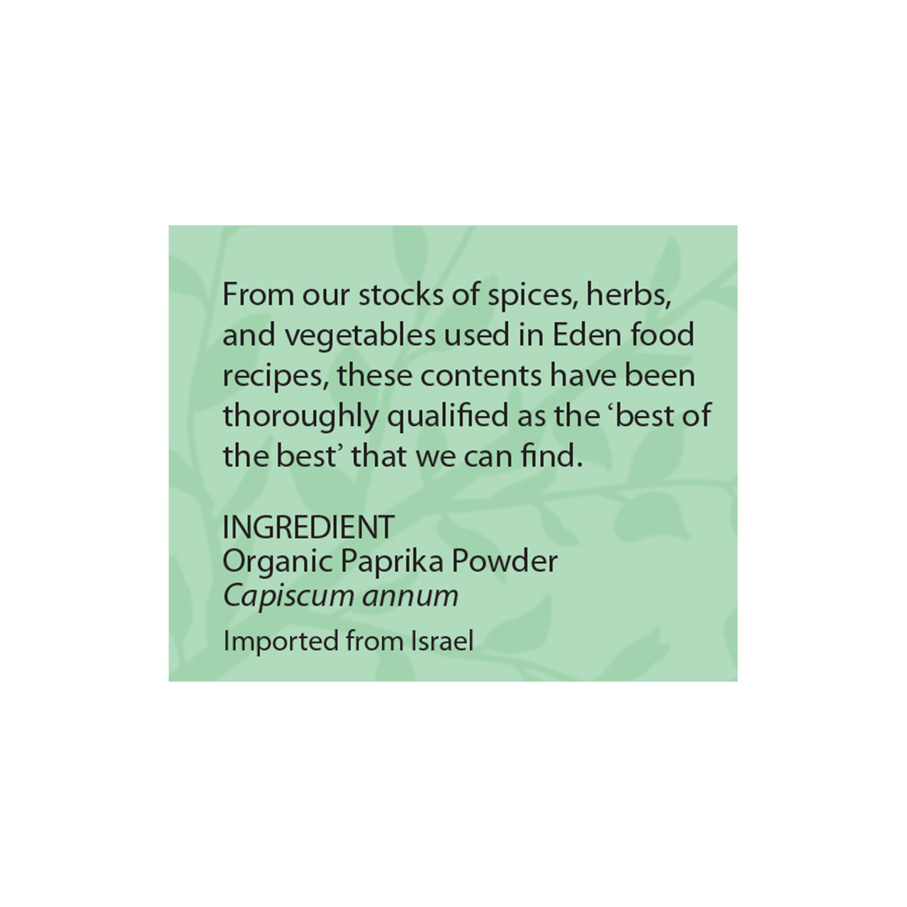 Paprika Powder, Organic
