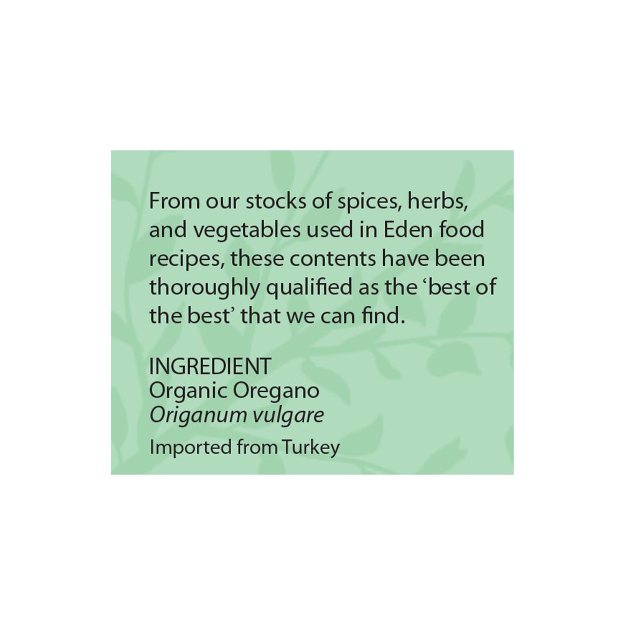 Oregano, Organic