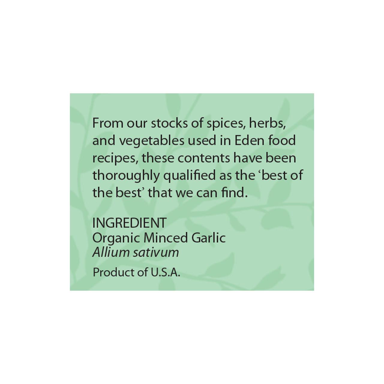 Dried Minced Garlic, Organic