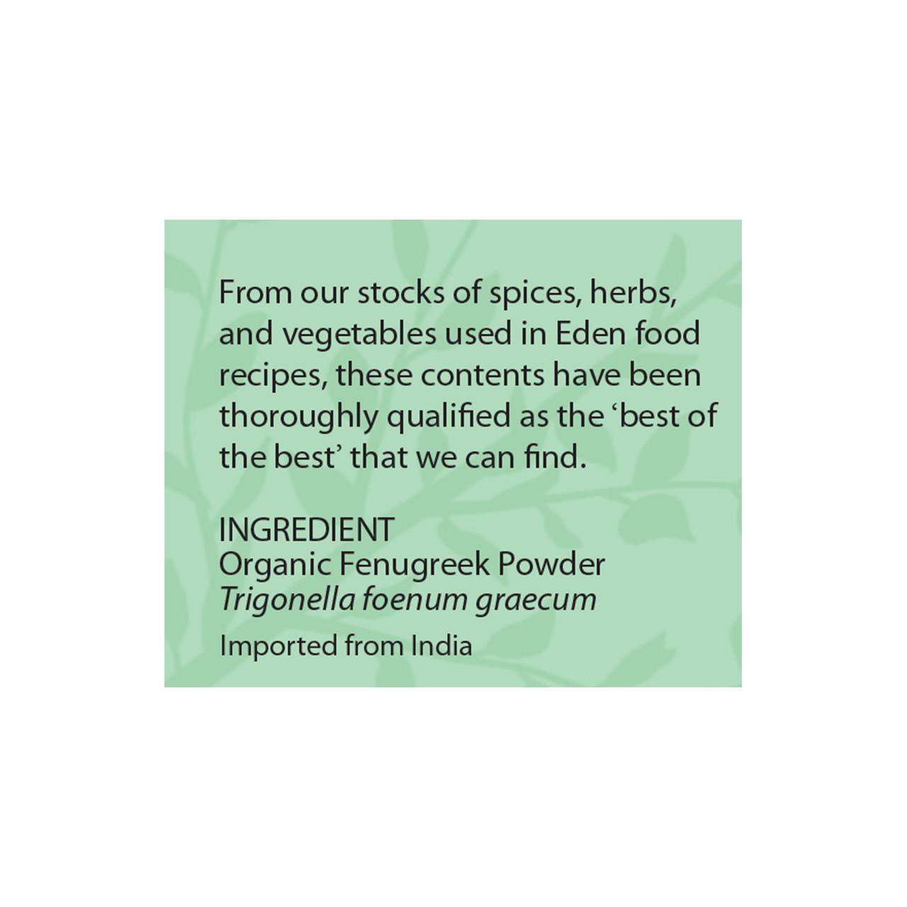 Fenugreek Powder, Organic
