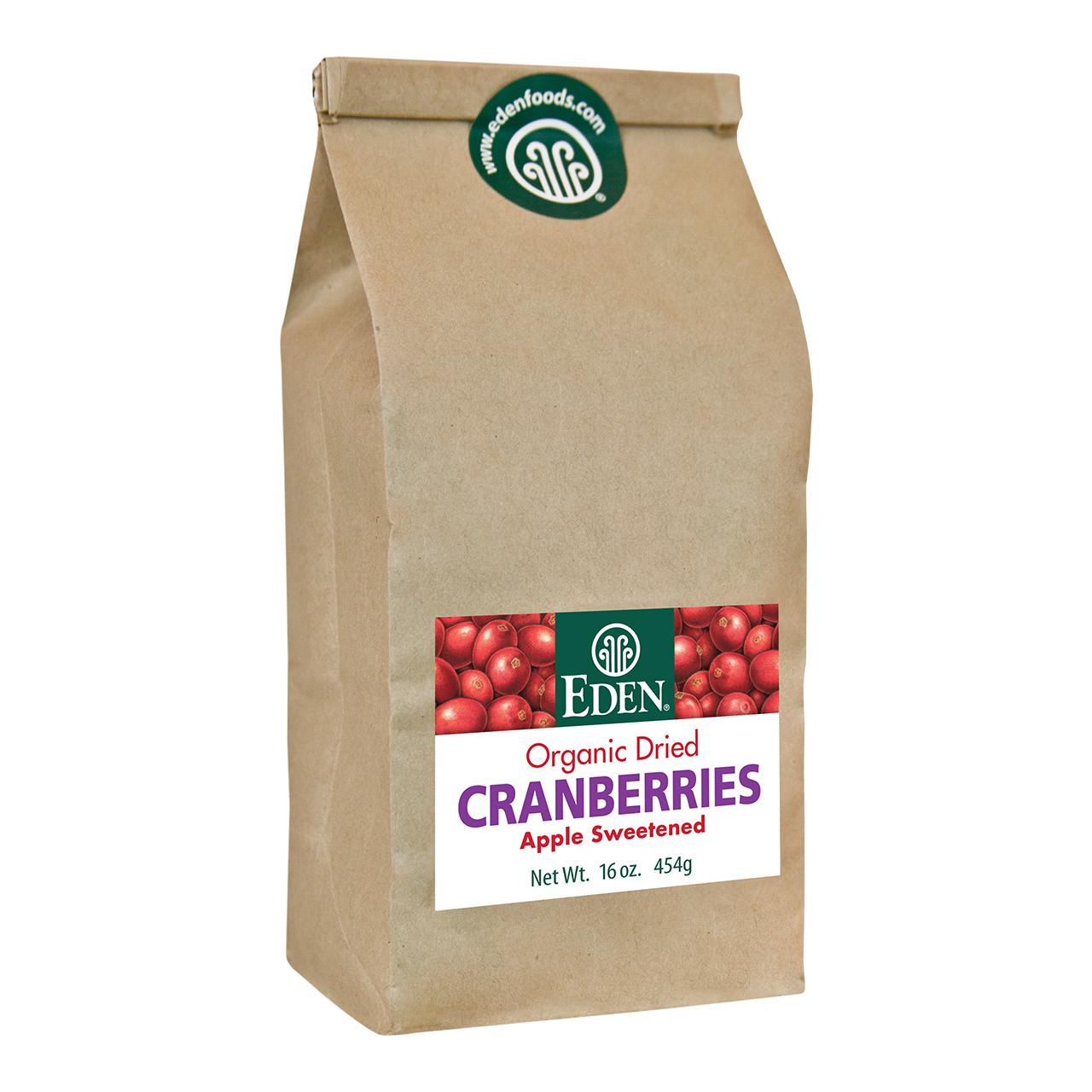 Dried Cranberries, Organic - 1 lb