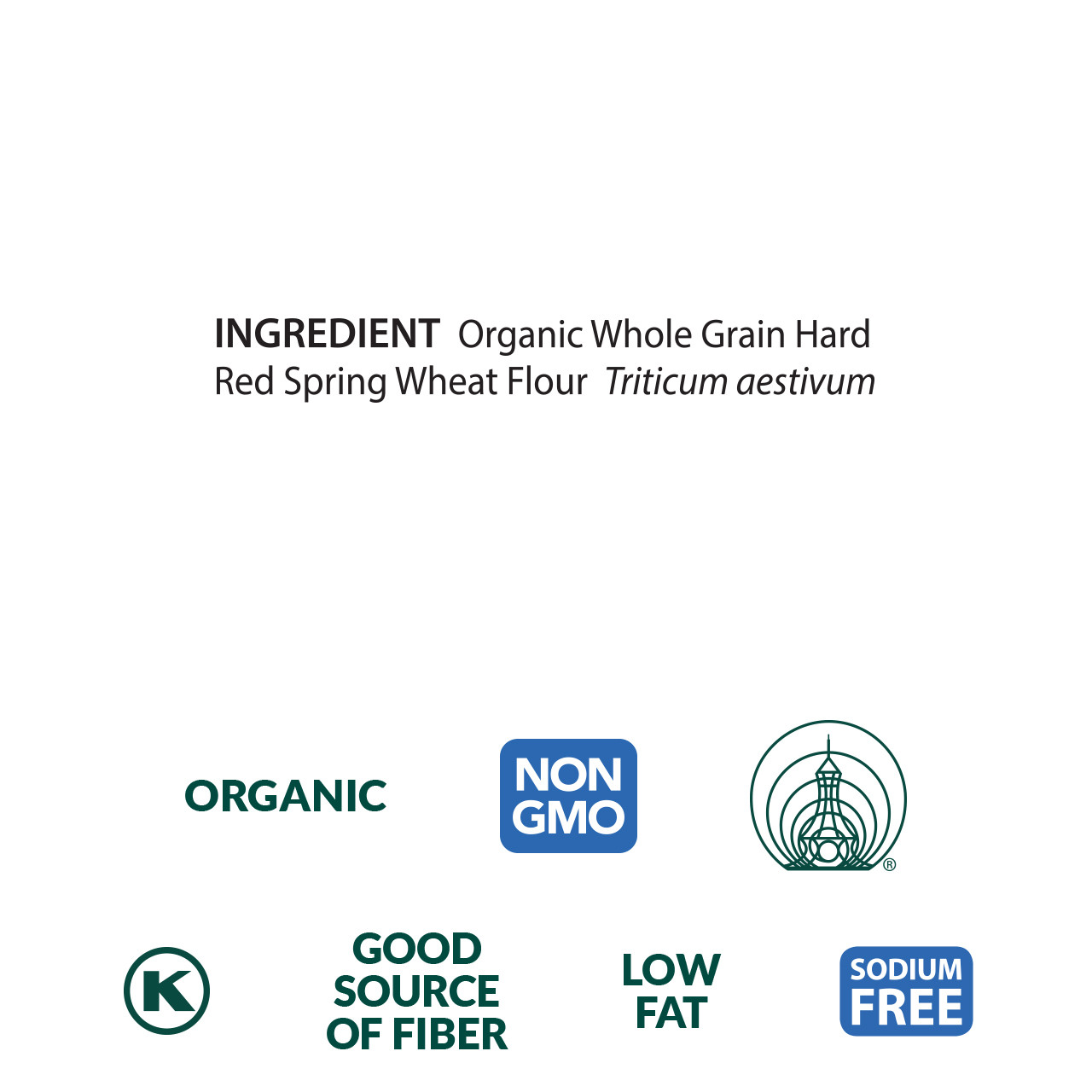 Hard Red Spring Wheat Flour, Organic - 5 lb