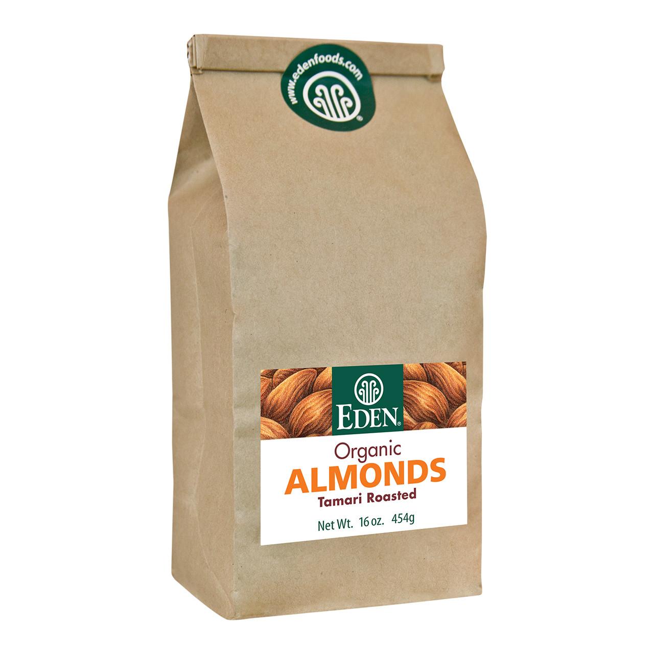 Tamari Roasted Almonds, Organic - 1 lb