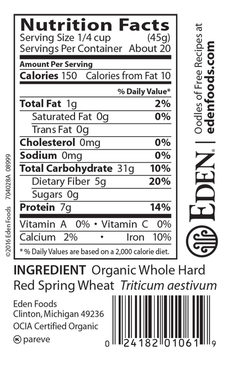 Hard Red Spring Wheat, Organic - 2 lb