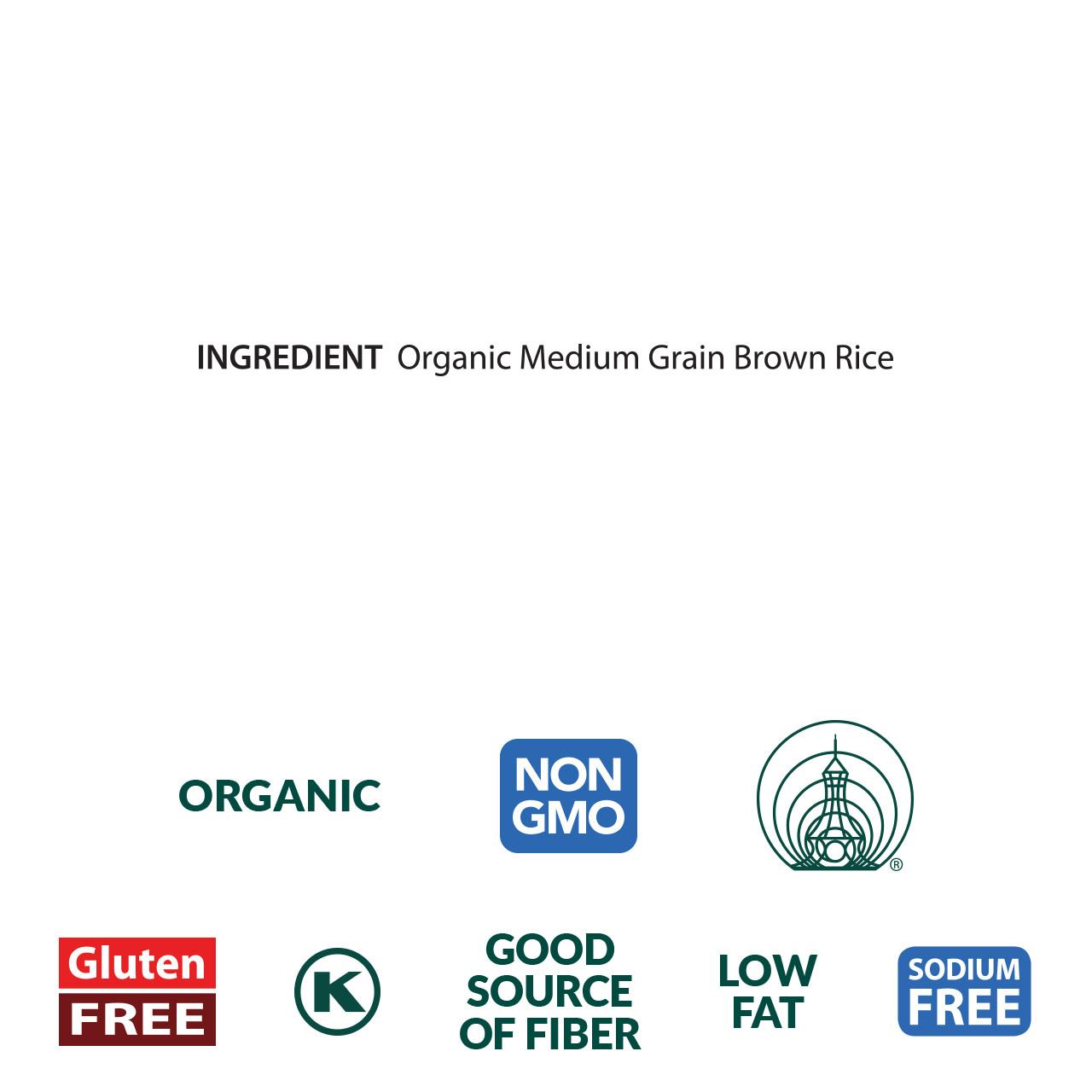 Lundberg™ Medium Grain Brown Rice, Organic - 2 lb