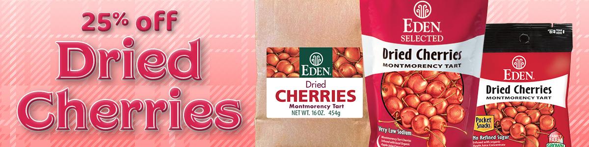 25% off EDEN Dried Cherries
