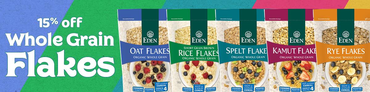 15% off EDEN Whole Grain Flakes