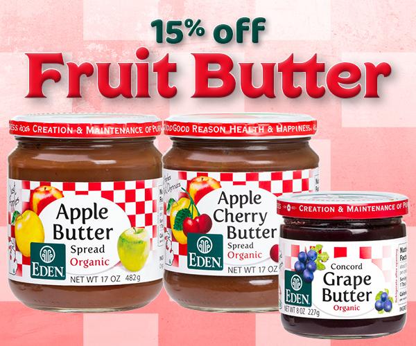 15% off EDEN Fruit Butter