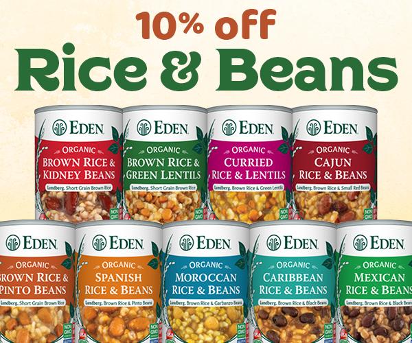 10% off EDEN Brown Rice & Beans