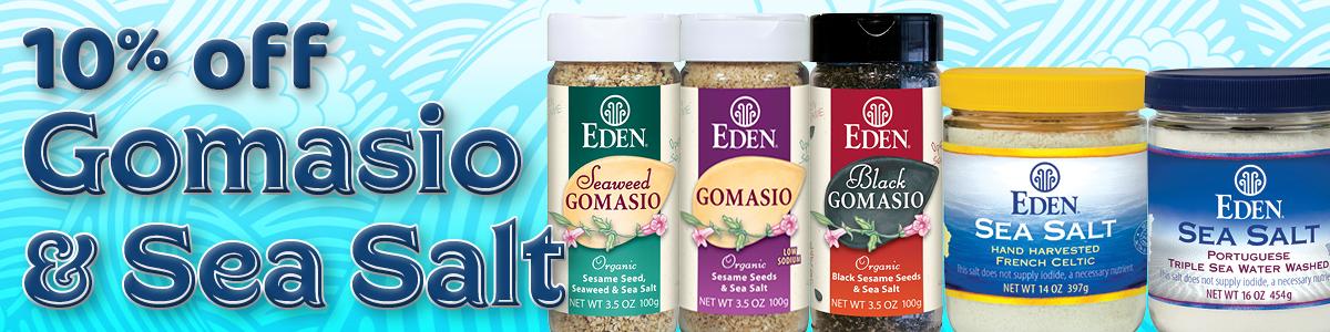 10% off Gomasio and Sea Salt